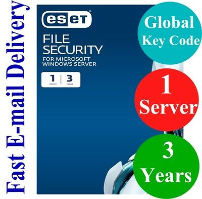 ESET File Security for Windows Server  3 Years (Unique Global Key Code) 2019