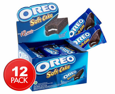 12 x OREO SOFT CAKE CHOCOLATE COCOA SNACK FOOD BISCUIT COOKIE BARS 16g