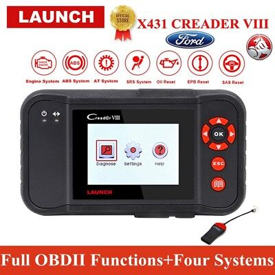 LAUNCH X431 CREADER VIII OBD2 Scanner Tool Engine Auto Diagnostic Same as CRP129