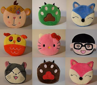 Girls Boys Kids Small Cute Soft Coin Purse over 35 designs to choose from