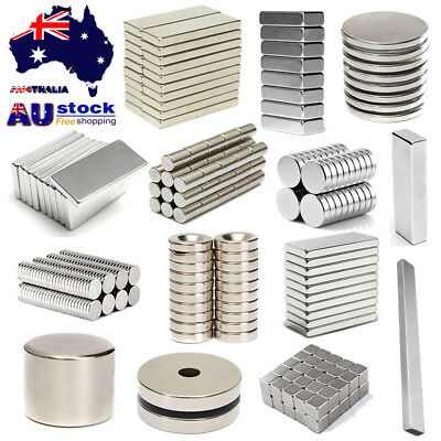 AU Rare Earth Super Strong Block Rare Earth NdFeB Neodymium N35 N50 N52 Magnets