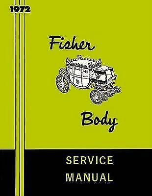 1972  FISHER CADILLAC SHOPSERVICE Manual CHEVROLET PONTIAC BUICK OLDS