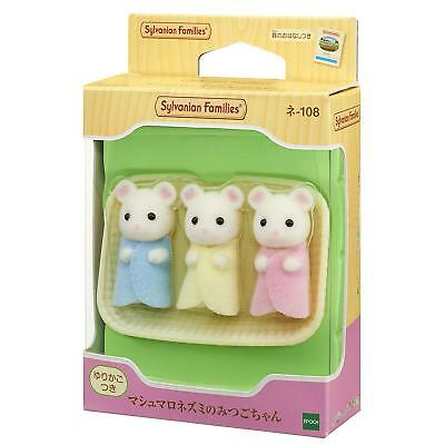Sylvanian Families MARSHMALLOW MICE TRIPLETS NE-108 Epoch Japan Calico Critters