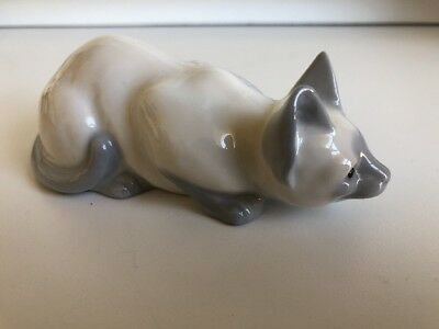 Vintage Collectible Genuine Bone China Cat Figurine Made In Japan H474E81