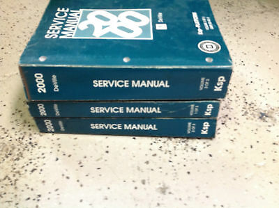2000 Cadillac De Ville  Shopservice Orig. 3 Books Complete Set Cheap!!!