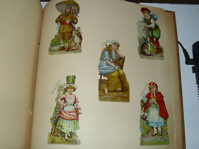 Antique Victorian Die Cuts 31 full pages scrapbook 12 x 12 Raphael Tuck