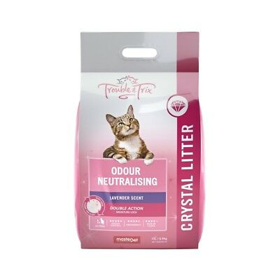 NEW Trouble & Trix Crystal Cat Litter - 15 Litre