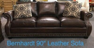 Fabulous Brand New Bernhardt 90 Leather Sofa W Nailhead Trim Msrp Gmtry Best Dining Table And Chair Ideas Images Gmtryco