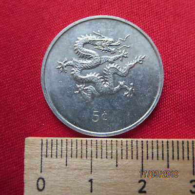 Republic of Liberia - 5 Cents 2000 - Drache - II