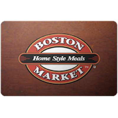 Boston Market Gift Card $50 Value, Only $46.00! Free Shipping!