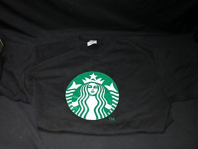 STARBUCKS Coffee Logo - Black T Shirt - Size Large - Purchased From Starbucks