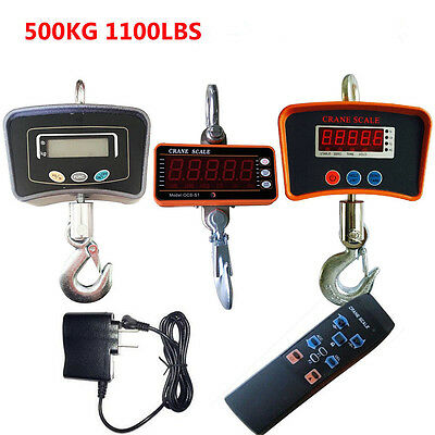 Heavy Duty Lcd Digital Crane Scale Industrial Hanging Scale 500KG/1100LBS  USA