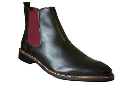 London Brogues Mens Black Leather Chelsea Dealer Ankle Boots Sizes 7 to 11