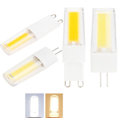 G4 G9 Dimmable LED COB Bulbs Silicone Crystal Filament Corn Lights Lamps 220V