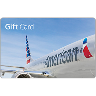 American Airlines Gift Card $50 Value, Only $47.00! Free Shipping!