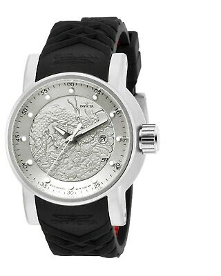 Invicta 15862 Mens S1 Rally Silver Dial Black Band Automatic Watch