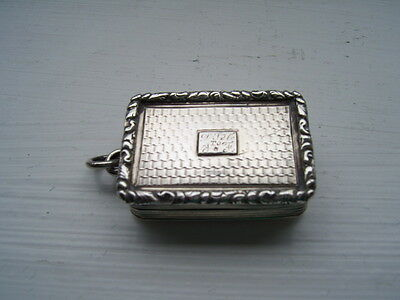Silver Vinaigrette By Nathaniel Mills William Iv
