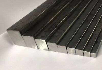MILD STEEL SQUARE SOLID BAR METAL ROD 8,10,12,14,16, 20, 25,30,40mm  ALL LENGTHS