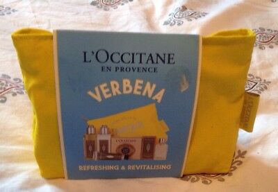 L'Occitane VERBENA Discovery Collection 6 x Items In Makeup Bag. Brand New