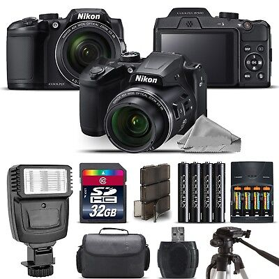 Nikon COOLPIX B500 Camera 40x Optical Zoom + Flash + Case - 32GB Kit Bundle