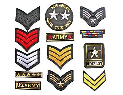 Military style Embroidered Iron On Sew On Patches Badges