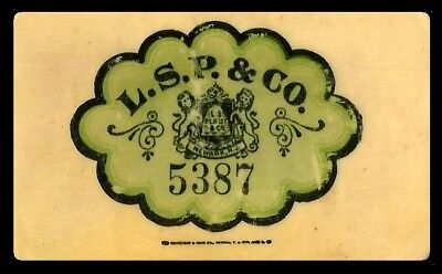 L. S. P. & Co. 5387 Vintage Celluloid Charge Card