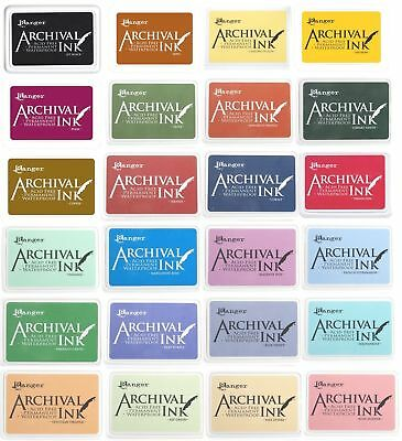 Ranger Archival Ink Pads #0 Permanent Waterproof CHOICE OF COLOURS