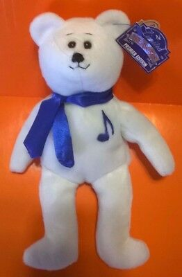 Elvis Beanie Baby Bear Limited Treasures Special Edition White With Blue  Scarf e46e42ef737