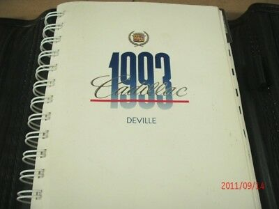 1993 Cadillac DEVILLE Owner's manual *