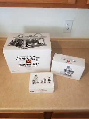 Retired DEPT56 McDonald's Snow Village Drive In, Light Up The Night & Candy Cane