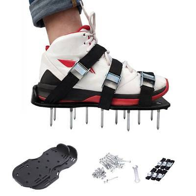 2 PCS Spikes Pair Lawn Garden Grass Aerator Aerating Sandals Shoes 30*13 cm