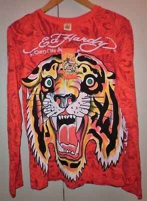 Ed Hardy  Long Sleeve T Shirt Size S Excellent Condition