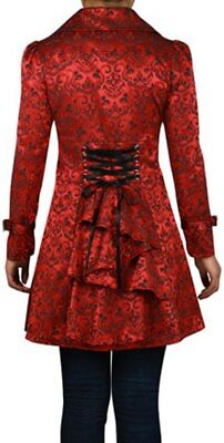 XS SM MD LG XL XXL - Red NEW Stitched Jacquard Gothic Corset Steampunk Jacket
