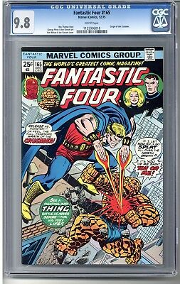 Fantastic Four #165 CGC 9.8 #1125906018 (Origin of the Crusader). White Pages.