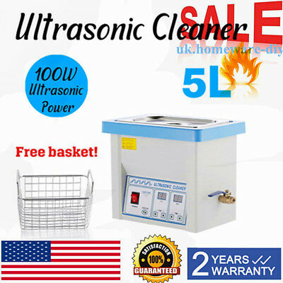 2 L Liter Stainless Steel   Ultrasonic Cleaner Industry w/Timer USA On Sale New