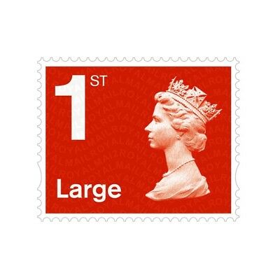 50 x 1st Class Large Letter Royal Mail Postage Stamps Book, Easy Peel and Stick
