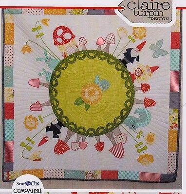 Rosies Garden - applique & pieced quilt PATTERN - Claire Turpin Designs