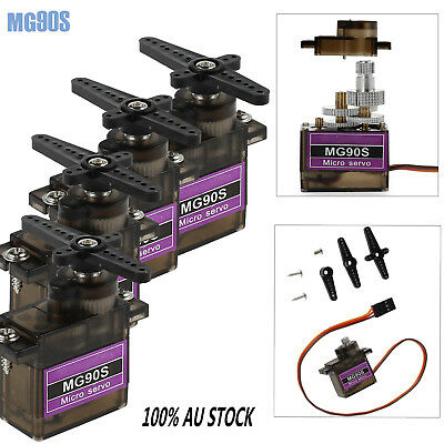 4X MG90S Micro Servo Motor RC For Robot Helicopter Airplane Foamy Plane Car OZ