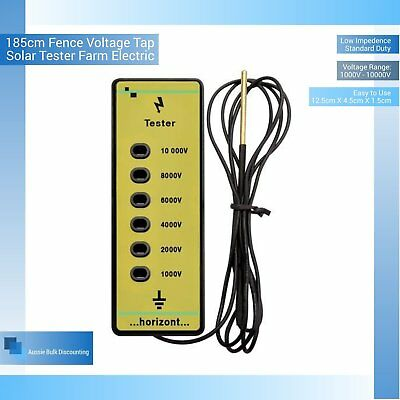 185cm Fence Voltage Tape 1000V 10000V Tester Farm Electric Solar