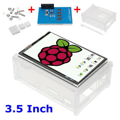 "3.5"" LCD Touch Display Screen + Case + Heatsink + Pen Kit For Raspberry Pi 2 3"