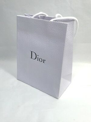 "Christian Dior Paper Shopping Gift Bag Small White Mini 6""x7.5""x3"""