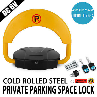 Private Parking Space Lock With Remote Control Rolled Steel Yellow Fashionable