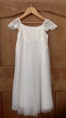Ivory/ Cream Occasion Dress Age 3-4 By Monsoon