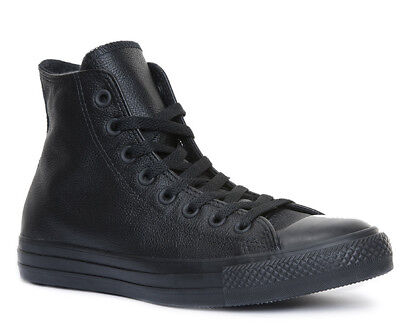 Converse All Star Chuck Taylor High Leather Trainers Black Mono Size UK 3 - 12