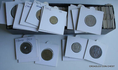 100+ Coins In 2X2 Holders  Mixed World Coin's General Mix Modern World In Box