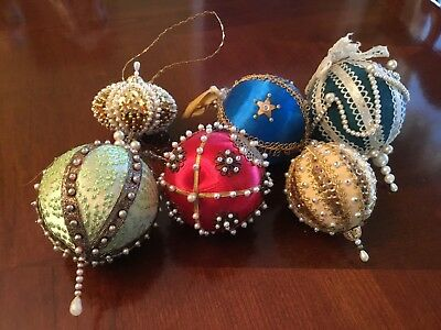 Handmade beaded victorian Christmas Ornaments