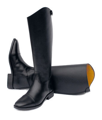 Rhinegold Hanover Black Long Leather Horse Riding Boot