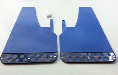 1 PAIR FRONT Blue RALLY Mud Flaps Splash Guards fits FIAT (MF2) x 2