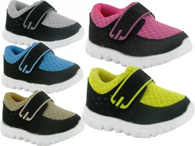 new baby boys girls unisex trainer shoes lightweight touch fastening sizes 2-7