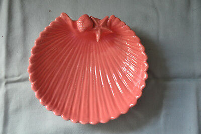 Ceramic Scallop Shell Shaped Soap Dish - Coral